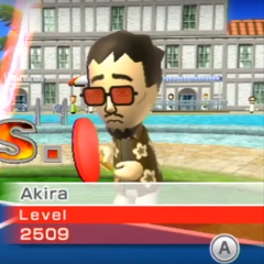Akira about to play a Table Tennis match.