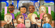 Hiroshi, Miyu, Eduardo, Rachel, Jessie, Siobhan, Martin, and Ryan featured in Smile Snap in Wii Party