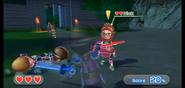Nick wearing Red Armor in Swordplay Showdown