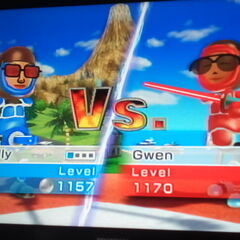 Another photo of Gwen in Swordplay Duel.