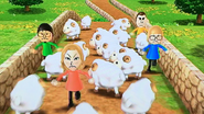 Nelly, Rachel, Shinnosuke and Rainer participating in Ram Jam in Wii Party