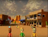 Matt, Alisha, and Victor participating in Popgun Posse in Wii Party