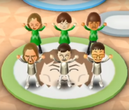 Kathrin, Emily, Mike, Ryan, and Daisuke featured in Swap Meet in Wii Party