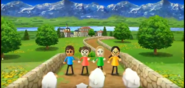 Midori, Rachel, and Keiko participating in Ram Jam in Wii Party