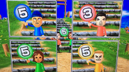 Pablo, Yoko and Tyrone participating in Strategy Steps in Wii Party
