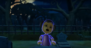 Miyu as a Zombie in Zombie Tag in Wii Party