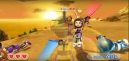 Abby wearing Purple Armor in Swordplay Showdown