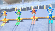 George, Giovanna and Midori participating in Jumbo Jump in Wii Party