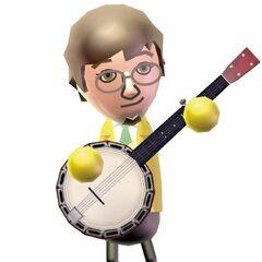 A Wii Music artwork of Luca.