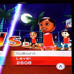Sakura and her teammates Rin and Greg in Basketball.