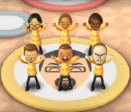 Keiko, Mia, Hayley, Oscar, Marco, and Ian featured in Swap Meet in Wii Party