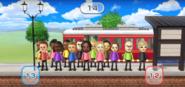 Eduardo, Michael, Sakura, Jackie, David, Abby, Rainer, Alex, Holly, Rachel, Tomoko, Elisa, Ian, and Alisha featured in Commuter Count in Wii Party