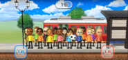 Tomoko, Eduardo, Oscar, George, Martin, Mia, Haru, James, Misaki, Hiromi, Emma, Eddy, Sota, Julie, Elisa, and Fritz featured in Commuter Count in Wii Party
