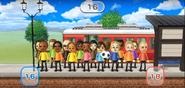 Tomoko, Eduardo, Oscar, George, Martin, Mia, Haru, James, Misaki, Hiromi, Emma, Eddy, Sota, Julie, Elisa, and Fritz featured in Commuter Count in Wii Party