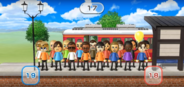 Ursula, Fritz, Hiromi, Holly, Miguel, Takashi, Hiromasa, Marisa, Fumiko, Abby, Sandra, Tatsuaki, and Shinnosuke featured in Commuter Count in Wii Party