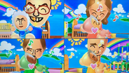 Hiromasa, Kathrin, Ursula and Fritz participating in Cry Babies in Wii Party