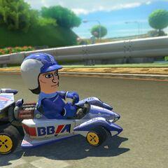 Pit in Mario Kart 8.
