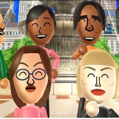 Marco with Sakura, George, Luca, Fumiko, Helen, Silke, and Emily