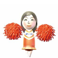 Misaki as a cheerleader in Wii Music.