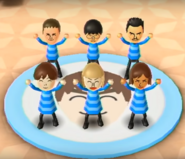 Michael, Ren, Saburo, Emily, Silke, and Yoko featured in Swap Meet in Wii Party