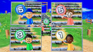 Midori, Shinnosuke and Sandra participating in Streategy Steps in Wii Party
