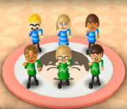 Gabi, Mike, Greg, Nelly, and Luca featured in Swap Meet in Wii Party