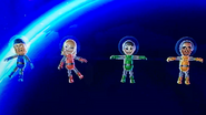 Gabi, Rin and George participating in Moon Landings in Wii Party