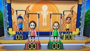 Giovanna, Ursula and Gabriele participating in Chin-Up Champ in Wii Party