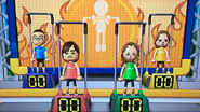 Shohei, Hiromi, Kathrin and Ursula participating in Chin-Up Champ in Wii Party
