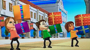 Ursula, Midori and Yoko participating in Shifty Gifts in Wii Party