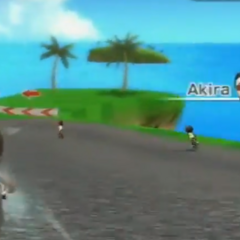 Akira (right) in Cycling.