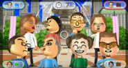 Naomi, Shinnosuke, Daisuke, Ursula, Shohei, Takashi, Midori, and Cole featured in Smile Snap in Wii Party