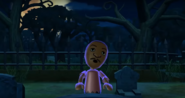 James as a Zombie in Zombie Tag in Wii Party