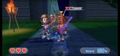 Tommy (right) wearing Red Armor in Swordplay Showdown