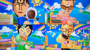 Susana, Cole, Misaki and Daisuke participating in Cry Babies in Wii Party