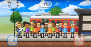 Jessie, Abby, Haru, Miyu, Holly, Andy, Shinta, Rin, Akira, Julie, Maria, Victor, Shohei, Barbara, and Takashi featured in Commuter Count in Wii Party