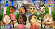 Sakura, Kentaro, Takashi, Hiromasa, Elisa, Alex, Shinta, and Silke featured in Smile Snap in Wii Party