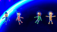 Hiromasa, Andy and Yoshi participating in Moon Landings in Wii Party