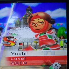 Yoshi in Swordplay Speed Slice.