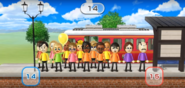 Takumi, Rachel, Holly, Eduardo, Siobhan, Ai, Mia, Marisa, and Giovanna featured in Commuter Count in Wii Party