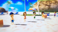 Abby, Akira and Fumiko participating in Flag Fracas in Wii Party