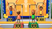 Tommy, Stephanie, Matt and Sakura participating in Chin-Up Champ in Wii Party