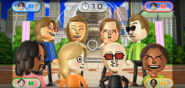 Ashley, Abby, Ursula, Steve, Alex, Martin, and Hayley featured in Smile Snap in Wii Party
