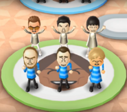Cole, Pablo, Rin, Ian, Rainer, and Megan featured in Swap Meet in Wii Party
