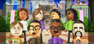 Yoko, Elisa, Shinnosuke, Haru, Lucia, Shouta, Hiroshi, and Victor featured in Smile Snap in Wii Party