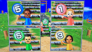 Hayley, Julie, Saburo and Tatsuaki participating in Startegy Steps in Wii Party