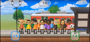 Steve, Fritz, Megan, Asami, Luca, Marisa, Julie, Keiko, Sandra, Rin, Tyrone, Holly, Tomoko, Rainer, and Sakura featured in Commuter Count in Wii Party
