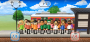 Pablo, Holly, Michael, Marisa, Helen, Kentaro, James, Keiko, Ashley, Sarah, Miguel, and Elisa featured in Commuter Count in Wii Party-0