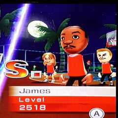 James and his teammates Ashley and Tyrone in Basketball.