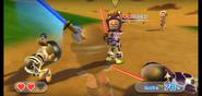 Oscar wearing Purple Armor in Swordplay Showdown